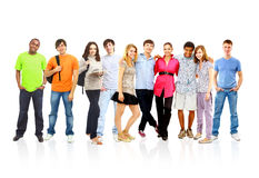 Happy Group of students. Beautiful friends Stock Image