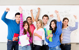 Happy group of students Royalty Free Stock Photography