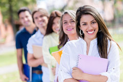 Happy group of students Royalty Free Stock Images