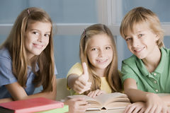 Happy group of students. At school Stock Images