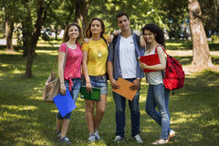 Happy group of students Royalty Free Stock Photos