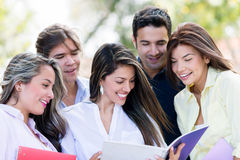 Happy group of students Stock Photography