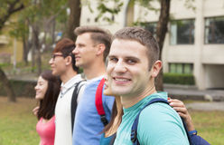 Happy group of students standing Royalty Free Stock Image