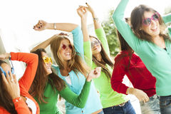 Happy group of teenage friends Royalty Free Stock Photography