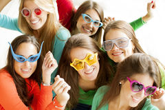 Happy group of teenage friends Royalty Free Stock Photo