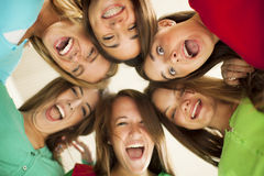 Happy group of teenage friends Stock Photography