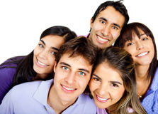Happy group of teenagers Stock Image