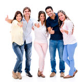 Happy group with thumbs up Royalty Free Stock Photo