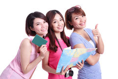 Happy group travel people Royalty Free Stock Photo