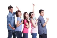 Happy group travel people Royalty Free Stock Photography