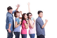 Happy group travel people Stock Photography