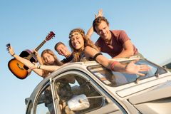 Happy group on vacations royalty free stock image