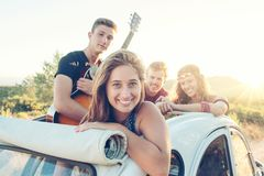 Happy group on vacations Royalty Free Stock Photography