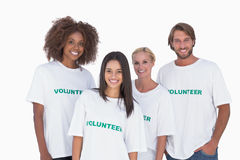 Happy group of volunteers Royalty Free Stock Photo