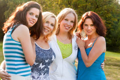 Happy group of women Stock Images