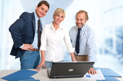 Happy group work Royalty Free Stock Photography
