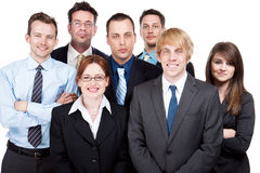 Happy group of workers Stock Image