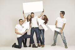 Happy group of young friends Royalty Free Stock Photography