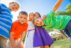 Happy Group of Young Kids Royalty Free Stock Images