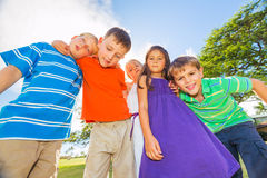 Happy Group of Young Kids Stock Photography