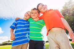 Happy Group of Young Kids Stock Image