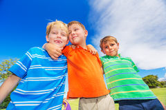 Happy Group of Young Kids Royalty Free Stock Photography