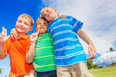 Happy Group of Young Kids Royalty Free Stock Photos