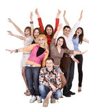 Happy group of young people. Stock Image