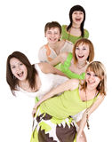 Happy group of young people. Stock Photography