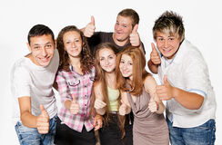 Happy group of young people. Royalty Free Stock Photography
