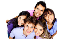 Happy group of young people Royalty Free Stock Photos