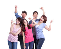 Happy group young people Royalty Free Stock Images