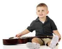 Happy Guitar Boy Stock Images