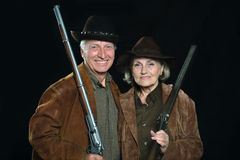 Happy Gunslingers in western Royalty Free Stock Images