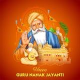 Happy Gurpurab, Guru Nanak Jayanti festival of Sikh celebration background vector illustration