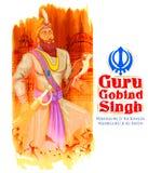 Happy Guru Gobind Singh Jayanti festival for Sikh celebration background Royalty Free Stock Photo