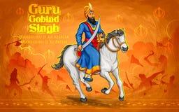 Happy Guru Gobind Singh Jayanti festival for Sikh celebration background Royalty Free Stock Images