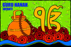 Happy Guru Nanak Jayanti background Stock Photo