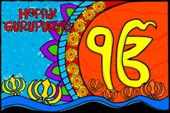 Happy Guru Nanak Jayanti background Royalty Free Stock Photos