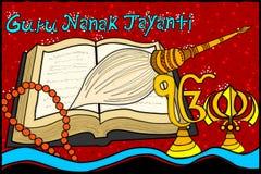 Happy Guru Nanak Jayanti background Stock Images