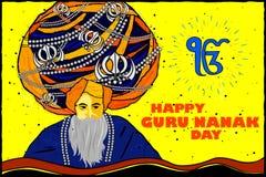 Happy Guru Nanak Jayanti background Royalty Free Stock Photography