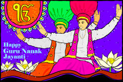 Happy Guru Nanak Jayanti background Royalty Free Stock Photo