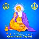 Happy Guru Nanak Jayanti festival of Sikh celebration background Royalty Free Stock Photos