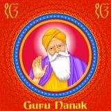 Happy Guru Nanak Jayanti festival of Sikh celebration background Royalty Free Stock Photo