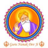 Happy Guru Nanak Jayanti festival of Sikh celebration background Stock Images