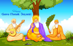 Happy Guru Nanak Jayanti festival of Sikh celebration background Stock Photo
