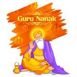 Happy Guru Nanak Jayanti festival of Sikh celebration background Stock Image