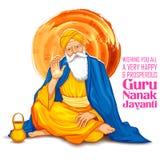 Happy Guru Nanak Jayanti festival of Sikh celebration background Royalty Free Stock Images