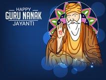 Happy Guru Nanak Jayanti. Stock Photo
