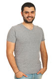 Happy guy with blank t-shirt Royalty Free Stock Image
